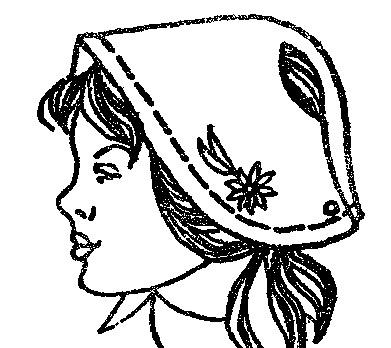 Выкройка шапочки